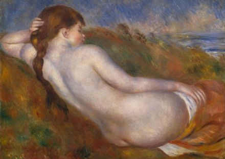Renoir, Pierre Auguste: Reclining Nude. Fine Art Print/Poster. Sizes: A4/A3/A2/A1 (004268)